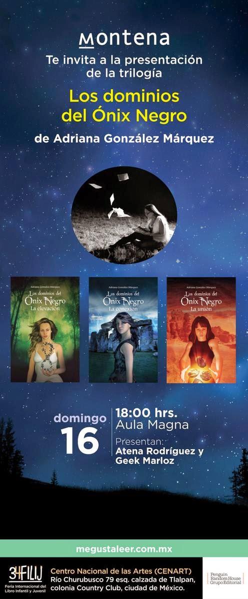 Presentación de Los dominios del Ónix Negro - Adriana González Márquez