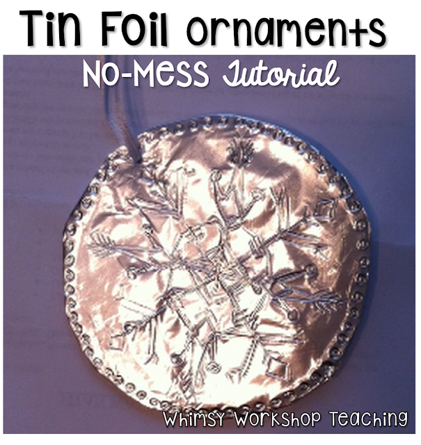 Tin foil ornaments simple craft tutorial