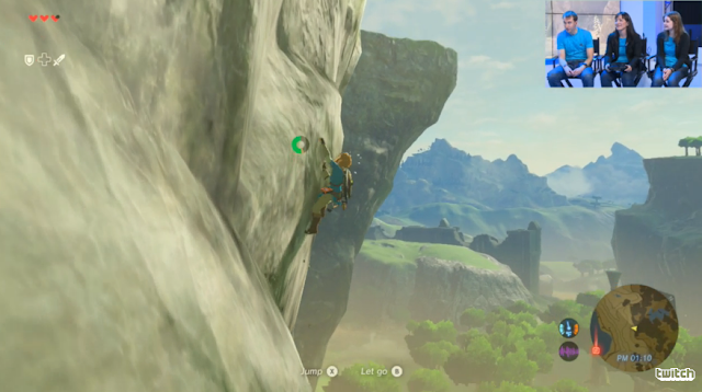 The Legend of Zelda: Breath of the Wild mountain climbing stamina
