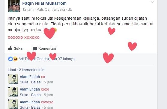 Status xoxoxo facebook bikin baper