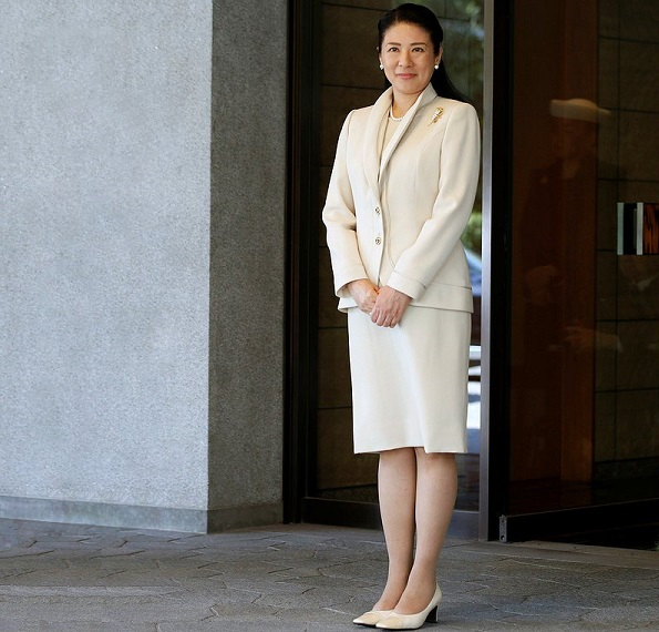 Crown Princess Masako sends off her husband Crown Prince Naruhito as he leaves for Malaysia, at Togu Palace