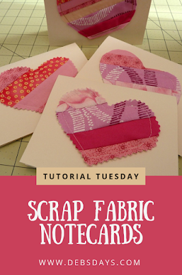 Handmade Valentine's Day Card from Fabric Scraps Craft Project