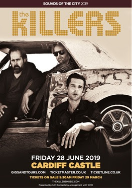 THE KILLERS to play Cardiff Castle on Friday 28th June 2019