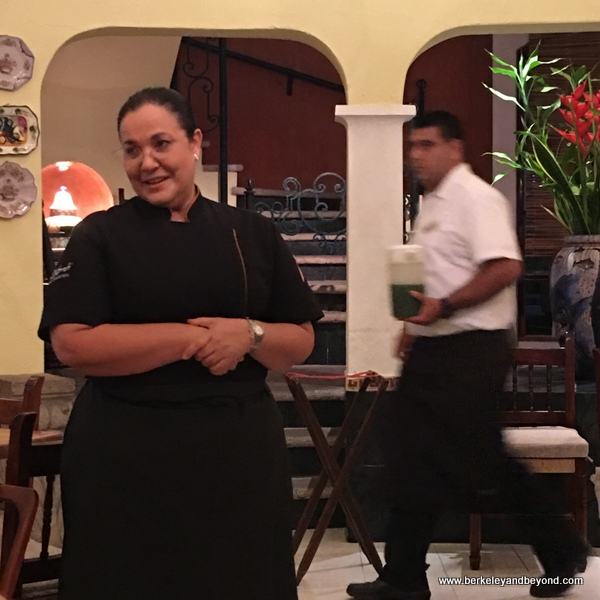 chef Betty Vazquez Gonzalez at El Delfin Restaurant at Hotel Garza Canela in San Blas, Mexico