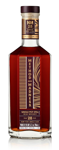 METHOD AND MADNESS Single Pot Still Irish Whiskey 28 Year Old Ruby Port Pipe Single Cask
