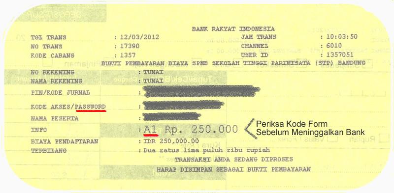 contoh bukti pembayaran