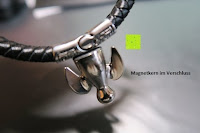 Magnet: Ostan - Gotik 316L Edelstahl und Leder Armbänder für Herren - Neue Mode Schmuck Armschmuck, Schwarz