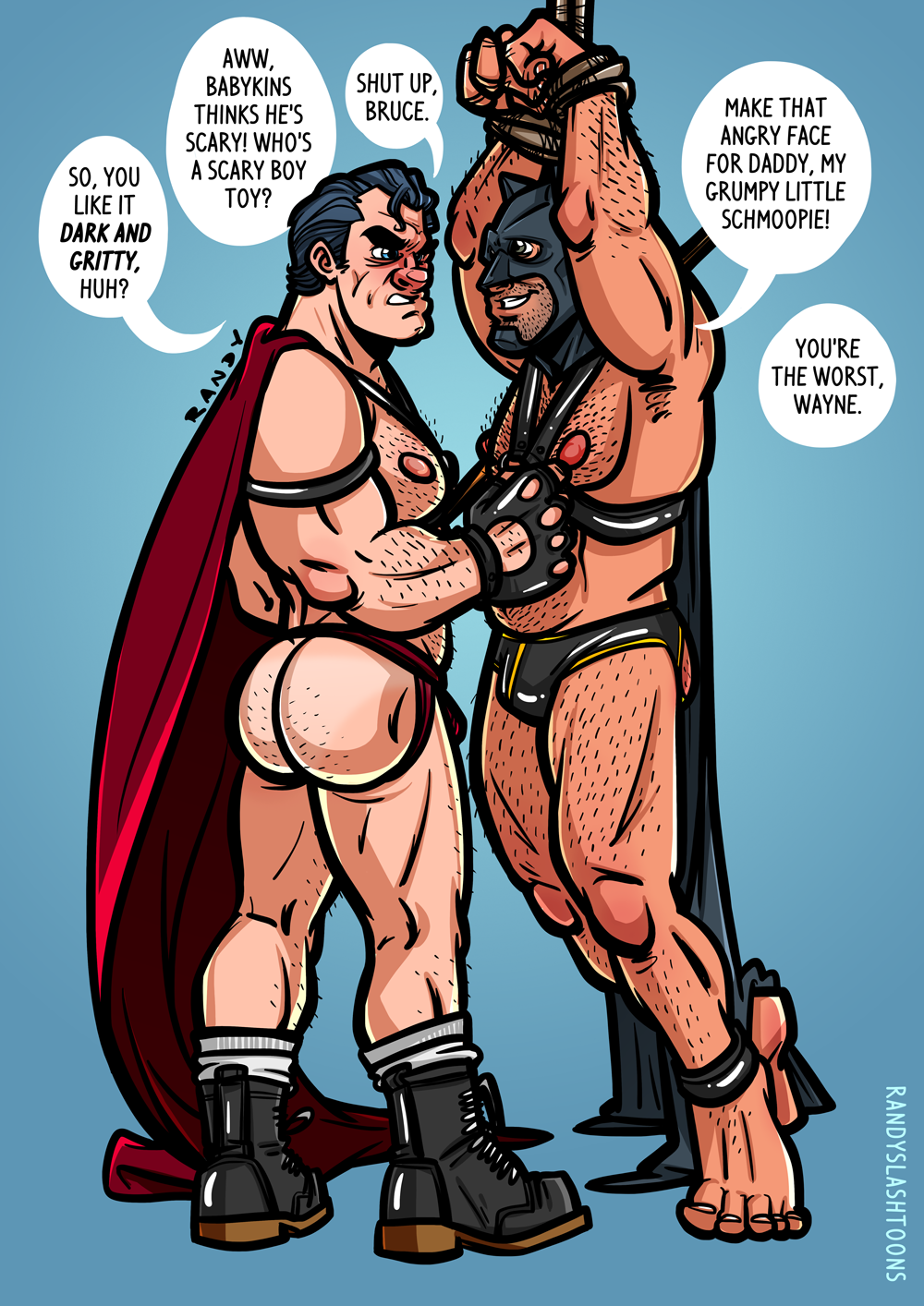 Batman superman hard gay porn