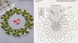 Carpeta con tréboles de la suerte para tejer al crochet