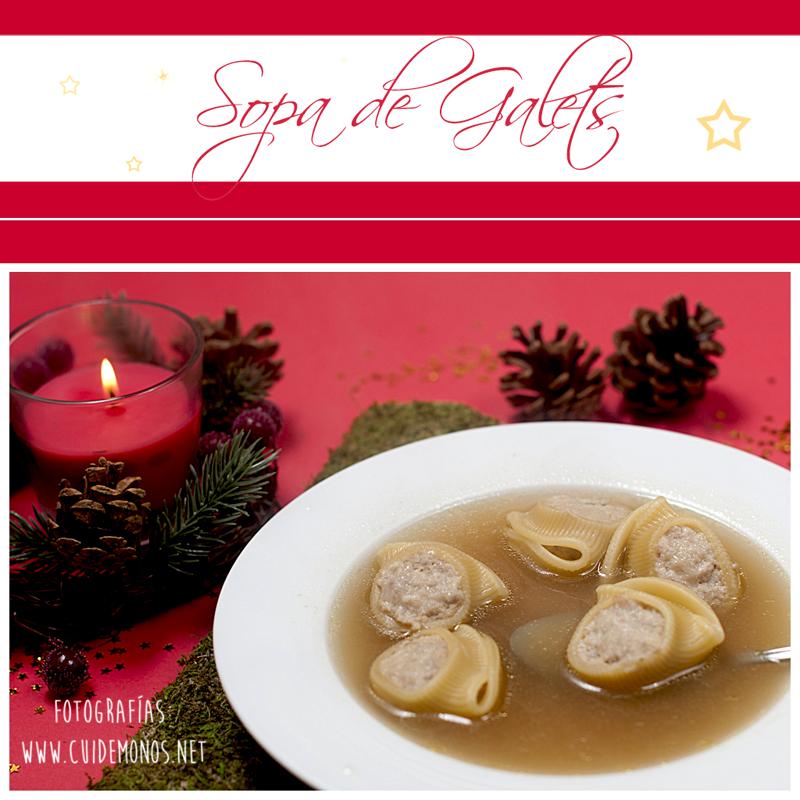 Sopa de galets, escudella de nadal, receta navidad