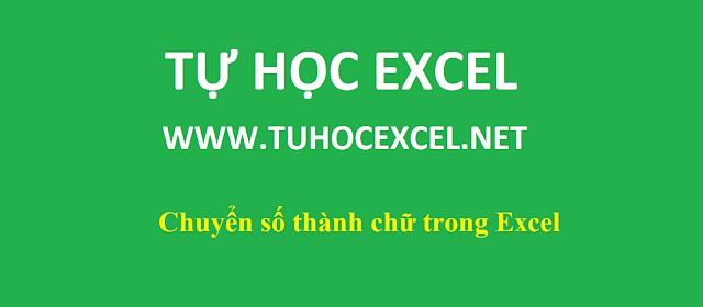 Đổi số thành chữ trong Excel nhanh chóng