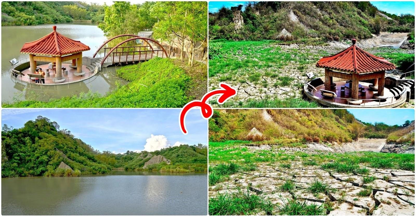 為重現「夢幻湖」美景|牛埔農塘清淤放流一片乾涸|暫時不見夢幻景色