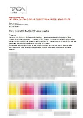 TAGA.ISO.20654: Calcolo delle curve tonali negli spot color