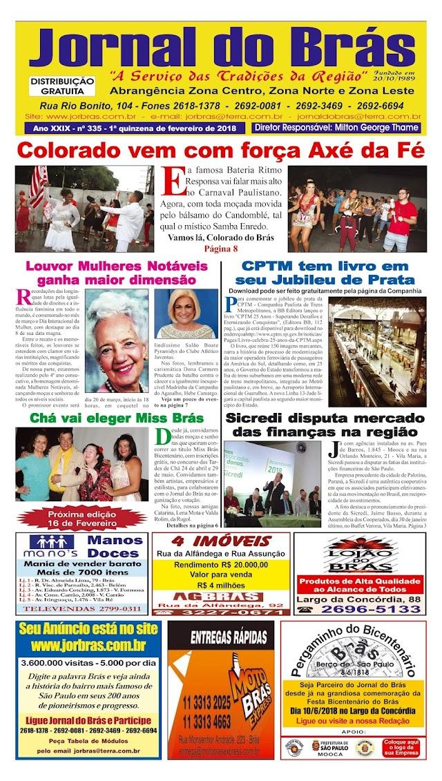 Destaques da Ed. 335 - Jornal do Brás