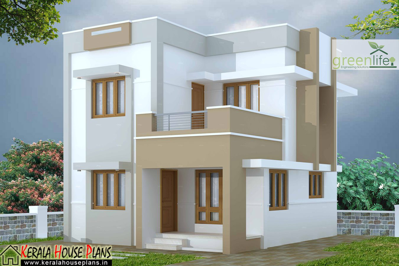 1280 sqft 3 bhk house design 3 cent plot