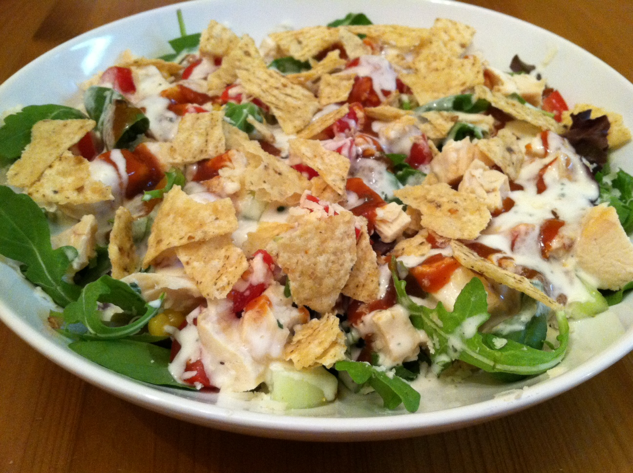 A Taste Of Home Cooking Bbq Chicken Ranch Salad