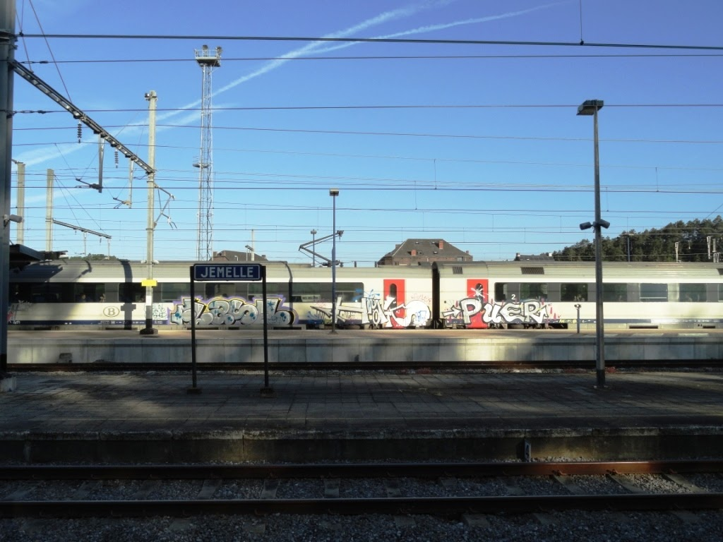 happy birthday graffiti train