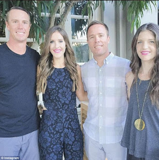 It S All In The Family For Matt Ryan And His Wife Sarah C At Left Brother Mike Ryan Is Married To Sarah S Sister Maggie Couple At Right