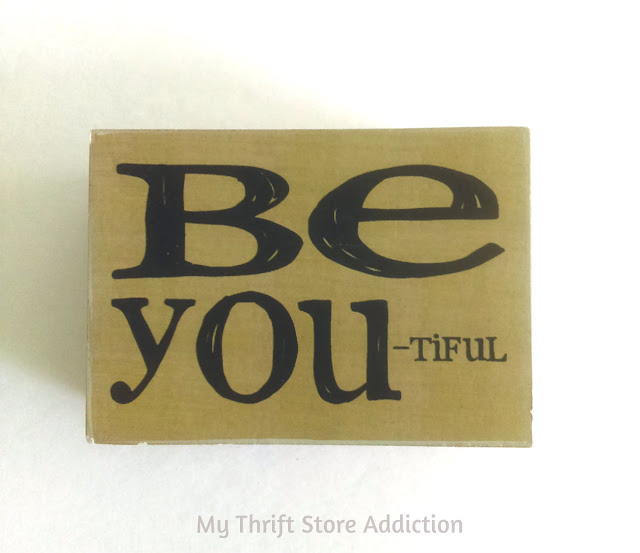 Be you-tiful sign