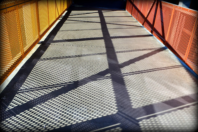 MBTA Commuter Rail Station, Salem, Massachusetts, shadows, MBTA, Trains, Bridge