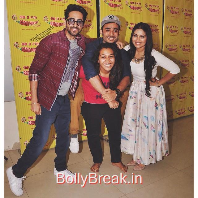 madness at radio mirchi. 😍💕 @ayushmannk, Hot HD Pics Of Bhumi Pednekar At 'Dum Laga Ke Haisha' Promotions at Radio Mirchi