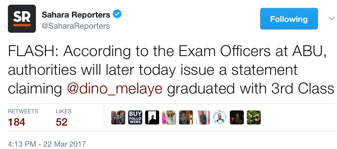 ABU exam officers Said Dino Melaye graduated From The School With 3rd class
