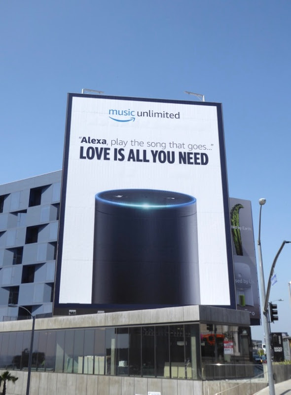 Alexa Music Unlimited Love all you need billboard