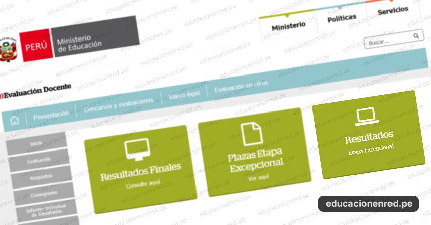 MINEDU: Resultado Final Nombramiento Docente 2019 (Etapa Excepcional - 25 Noviembre) www.minedu.gob.pe