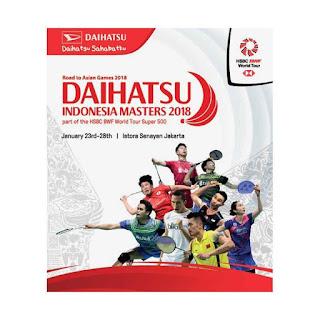 Live streaming babak kedua Indonesia Masters 2018