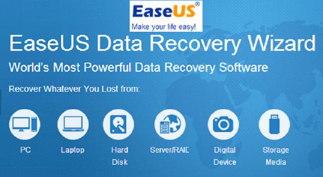 Menggunakan Software EaseUS Data Recovery