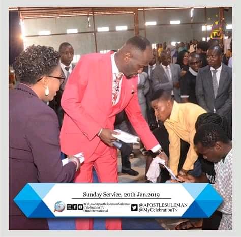 Apostle Johnson Suleiman Gifts 6.5 Million Naira To Unemployed Church Members