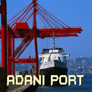 A Ship being loaded at an Adani Port