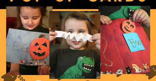 Simple DIY pop-up Halloween card craft for kids