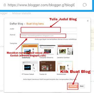 cara mudah membuat blog atau website