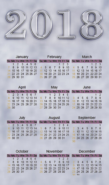 Happy New Year HD Calendar 2018