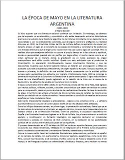 la epoca de mayo en la literatura argentina
