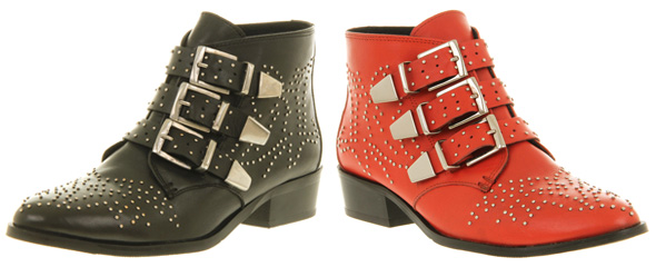 Real Vs Steal Chloe Studded Ankle Boots Office Nighthawk