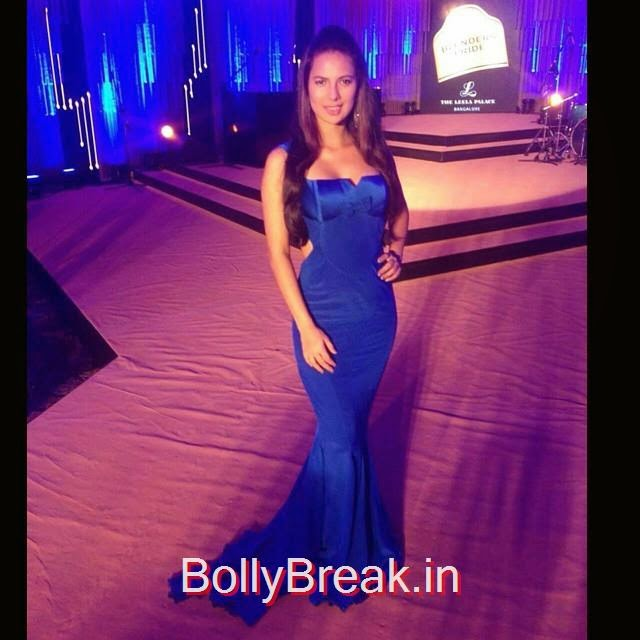 rochelle rao , swapnil shinde , haute couture , royal blue , evening gown , premium , blenders pride ,, rochelle rao Latest Hot Pics From Events