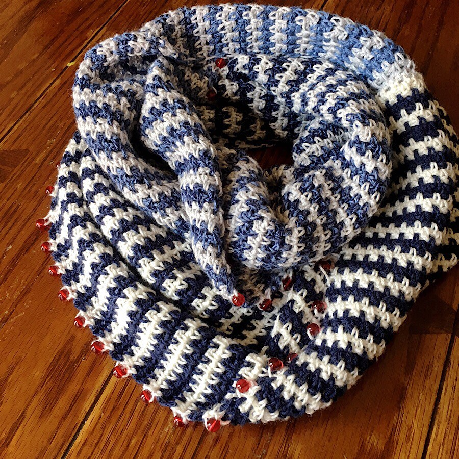 Rebecca Möbius Scarf - FREE crochet pattern by Cypress Textiles