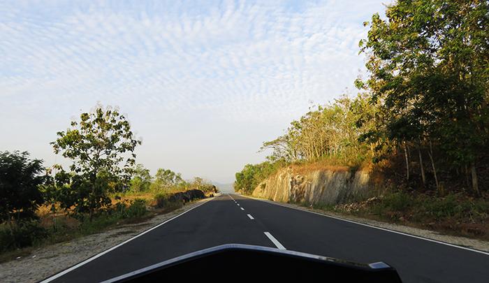 Jalan Nasional di Pracimantoro, Wonogiri
