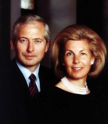 O príncipe e a princessa de Liechtenstein