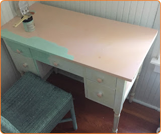 Chalk Paint Desk Green Blue