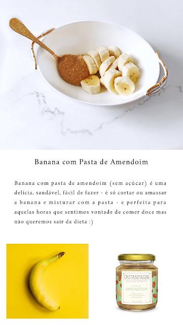 Banana com pasta de amendoim