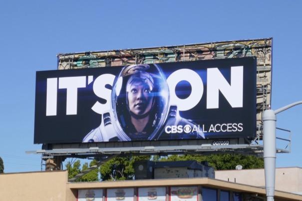Star Trek Discovery Its On CBS All Access billboard