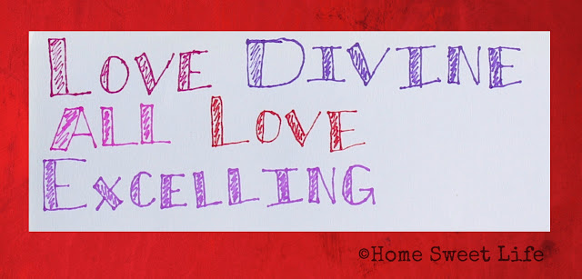hand lettered songs, love divine