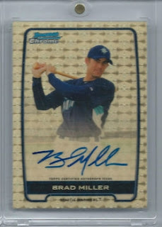 Brad Miller Bowman Chrome Autograph Auto Superfractor 1/1 Seattle Mariners prospect rookie