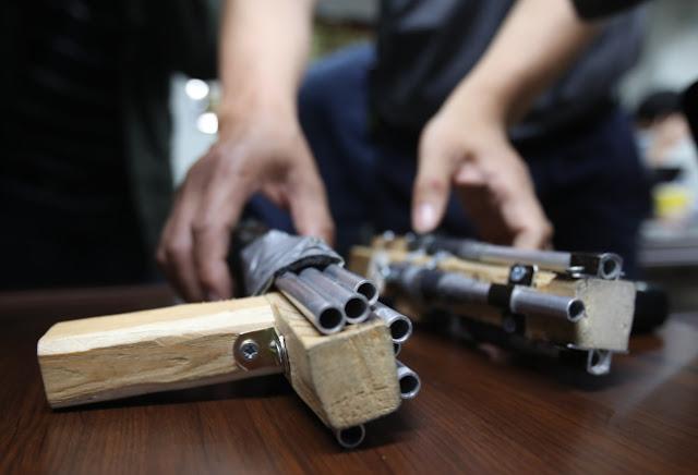 Pistolas artesanales fabricadas en Corea del Sur