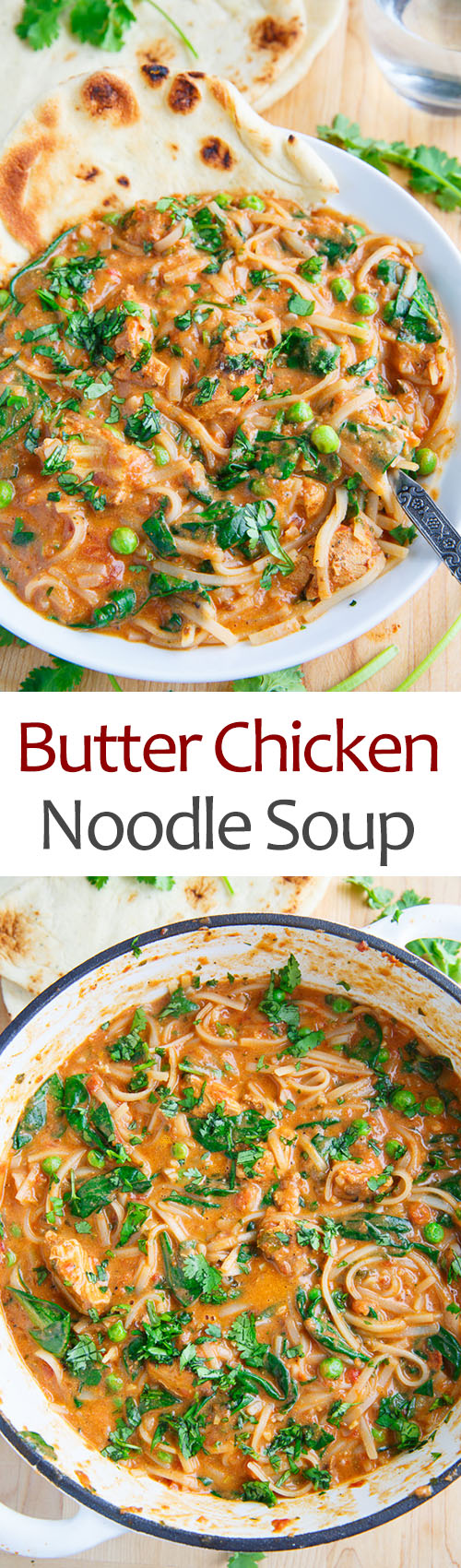 Butter Chicken Noodle Soup