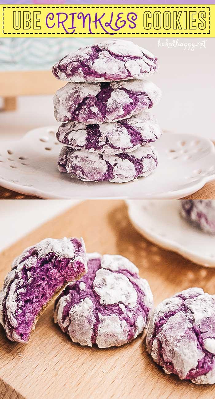 Ube Crinkles cookie