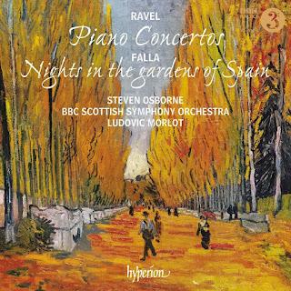 Ravel, Falla piano concertos - Steven Osborne - Hyperion